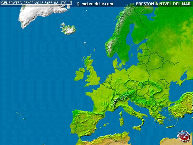 Mapa Europa Isobaras
